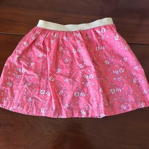 Carter's Bottoms - 2-for-1 Floral skirts for spring, gold waistband